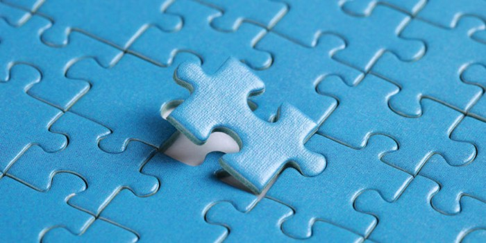 Final puzzle piece being placed in a puzzle