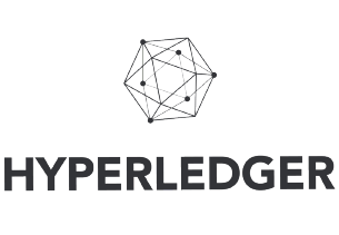 Blockchain platform Hyperledger black logo